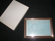 """BIRTH YEAR PHOTO & COIN PINK BACKGROUND WOODTONE METAL FRAME 7 1/8"""" x 5 1/2"""""""