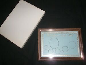 """Birth Year Photo & Coin Blue Background Woodtone Metal Frame 7 1/8"""" x 5 1/2"""""""