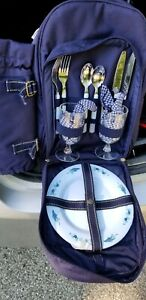 Picnic at Ascot Two Person complete Backpack – Blue