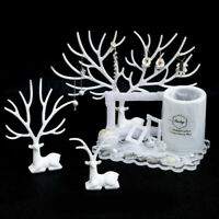 Silicone Deer Antlers Resin Casting Mold Jewelry Stand Mould Hot Fork Tree E3C2