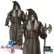 FINAL DESTINATION BLACK PVC HALLOWEEN ROBE Adult Hooded Reaper Vampire Robe 6702