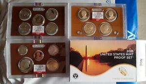 2015 US Mint Proof Set NGC 1st Day Of Issue GEM Proof Set 14 Coins in 3 slabs