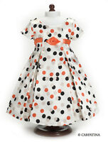 "Doll Clothes 18"" Dress Vintage Polka Dot Carpatina Fits American Girl Dolls"
