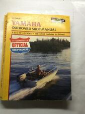 Clymer Yamaha Outboard Shop Manual 2-225 HP  2-Stroke 1984-1989 Jet Drives