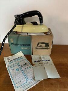 Vintage Morphy Richards Dry Iron Yellow Heavy 2.3kg, Senior Model CA75 Boxed
