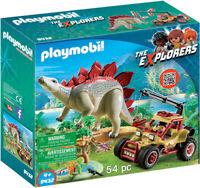 Playmobil - Dino: Explorer Vehicle with Stegosaurus [New Toys] Toy