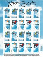 SCOTT 3321-24 33 CENT XTREME SPORTS MINIATURE SHEET OF 20 MNH