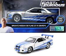 2002 Nissan Skyline GT-R R34 Brian Fast & Furious Silver 1:32 Jada Toys 97184