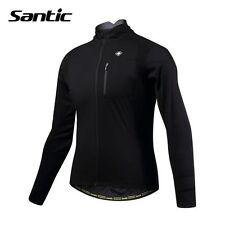 Santic Men's Cycling Jacket [Size XL] Windproof Jacket Full Zip Black New