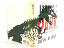 Jurassic Park by Michael Crichton (1993, HC, Gift Edition GD 'FLAT SIGNED'