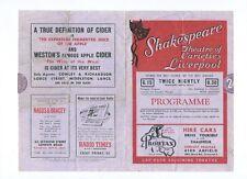 SHAKESPEARE THEATRE VARIETIES LIVERPOOL 1956 MURRAY MAGIC JACK DOYLE ALLEN & LEE