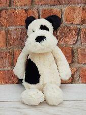 Jellycat Bashful Puppy Soft Toy Plush Comforter Black & White Dog Retired