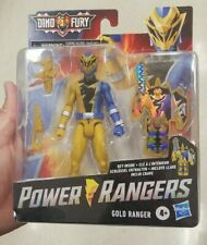 POWER RANGERS DINO FURY GOLD RANGER HASBRO  KEY INSIDE IN HAND!