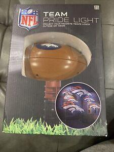 NEW NFL TEAM PRIDE DENVER BRONCOS LOGO INDOOR OUTDOOR PROJECTION LIGHT.