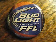 Budweiser Bud Light Beer Fantasy Football League Label Advertisement Button Pin