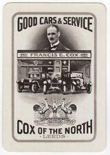 Playing Cards 1 Swap Card - Old Wide COX Car Dealership Garage RENAULT HUDSON