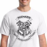 100% Cotton Hogwarts Logo  T-shirt Funny Geek  Harry Potter tee