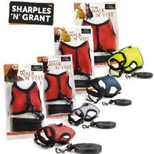 HARNESS & LEASH - Sharples N Grant Pet Safety Walk Vest Lead Bell bp Cat Animal