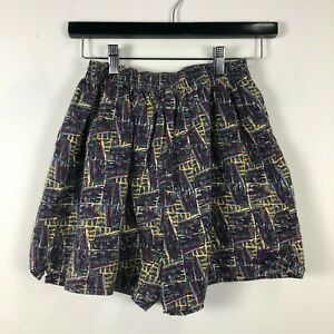 VTG 90s Nike All Over Print Shorts Womens SZ M Abstract Tennis B1