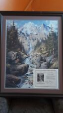 """Larry Dyke """"Majestic Cascade"""" signed & numbered print 269/1250 w/Cert. Authentic"""
