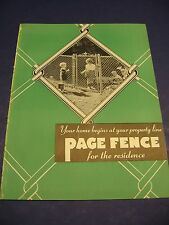 Fence & Gates 1939 Catalog Vintage Page Steel & Wire Art Deco Lawns Planning