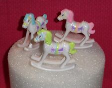Rocking Horses,Pastel,Cake Toppers,Bakery Craft,Decorations,multi-color,Baby