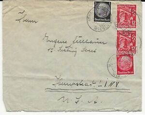 1930's Cover from Germany to USA Multiple Stamps