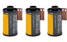 3 rolls KODAK PORTRA 160 35mm 36exp Professional Film 135-36 Color Negative