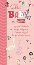 Geburt Mädchen Karte - A New Kleines Mädchen - Wunschbrunnen (C48)