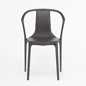 C. 2019 Vitra Belleville Armchair in Brown Leather by Ronan & Erwan Bouroullec