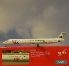 Herpa Wings 1:500 Mc Donnell Douglas MD-82 SAS Airlines 533355  Modellairport500