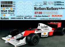 1/20  McLaren MP4/5B FULL TAMIYA  AYRTON SENNA BERGER DECALS TB DECAL TBD67