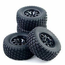 4 X Tires Set Tyre Wheel Rim For TRAXXAS SLASH HPI 1:10 RC Short Course Truck