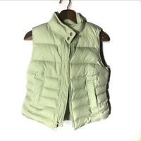Ann Taylor Loft Puffer Vest Coat Green Sz XS Full Zip
