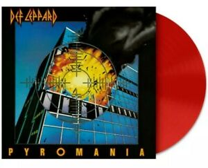 👉 DEF LEPPARD PYROMANIA ⭐ LIMITED EDITION ⭐ RED COLOR VINYL LP FACTORY SEALED👈