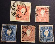 Francobolli italiani di antichi stati, blocchetto da 5