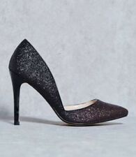 BNIB DOLCIS POINTED TOE COURT SHOES GLITTER OMBRÉ BLACK/BURGUNDY UK 3 EU 36 PROM
