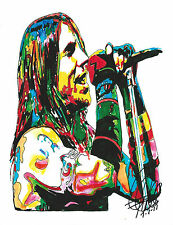 Anthony Kiedis Red Hot Chili Peppers Music Print Poster Wall Art Rock 8.5x11