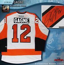 SIMON GAGNE Signed Philadelphia Flyers White Reebok Jersey