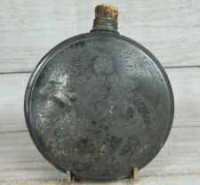 Al Malaikah Los Angeles Flask dated May 4th-11th 1912 Shriners Masonic Antique