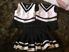 Gtm Sportswear Authentic Cheerleader Uniform, Size Youth X Small 2 Tops 1 Skirt