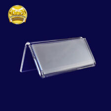 Mini Acrylic Sign Display Holder Price Name Card Tag Label Stands 297*105 mm UK