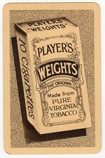 Playing Cards 1 Single Card Old PLAYERS WEIGHTS Cigarettes Advertising Tobacco 5
