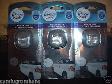 Febreze Car Clip on Vent Air Fresheners Heavy Duty First Defense Crisp Clean