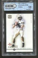 2001 Drew Brees Pacific Dynagon #102 RC Rookie Gem Mint 10 New Orleans Saints