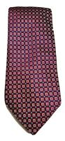 RALPH LAUREN CHAPS NEW WITH TAGS ELEGANT NECKTIE RED CHECKS PURE SILK HANDMADE