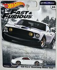 Hot Wheels 2019 Premium Fast & Furious '69 Ford Mustang Boss 302 1/4 Mile Muscle