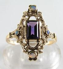 9 Carat Amethyst Yellow Gold Art Deco Fine Jewellery