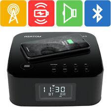 Azatom Qi charger Clock Radio Speaker Alarm Wireless Bluetooth HomeHub Q (R)