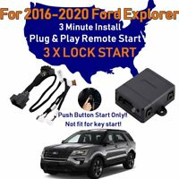 For Ford Explorer 2016-2020 Remote Start Plug & Play Easy Install 3min 3X Lock